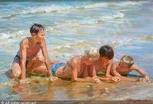 beach & sea on canvas 2