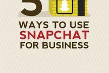 Snapchat Tips / all about snapchat, snapchat marketing tips, snapchat for business