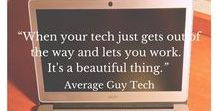 Average Guy Tech / Average Guy Tech has pins from my blog.  I cover news, reviews, tips, and tricks for the latest in tech and techology.  I bring hard to grasp concepts about the internet, social networking, the cloud and others down to Earth. Look for reviews of Google+, Facebook, Twitter, Instagram, and Flipboard.  Also how-to's on home networking, buying a laptop and more.