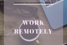 Work & Live anywhere! / How you can work while travelling the world. Find how to visit anywhere you'd like, all while working remotely. Don't get stuck in one place -- go exploring!  -Digital Nomad - Location Independent - Girl Boss - Work Remotely - Remote Work - Travel the World - Work and Travel