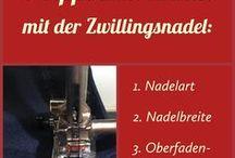Tipps und Tricks zur Nähmaschine / Nähmaschinenzubehör: welche Nähfüße verwende ich wann, wie fädel ich richtig ein, welches Zubehör ist sonst noch nützlich, Tipps und Tricks, um schwierige Stoffe zu vernähen