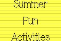 Summer Fun Activities / They are home for the summer... now what?! Fun activities you can do with your kids to keep them engaged and entertained this summer.
