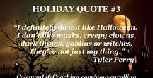 Holiday Quotes for People for Whom the Holidays Are Difficult / These are quotes for people who find the holidays difficult. Many have memories of holidays filled with trauma.