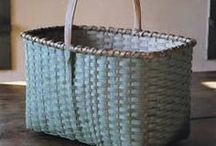 Primitive Baskets! Firkins! / Anything and Everything relating to Primitive Early Vintage baskets!!!! Adding Firkins and Shaker style pantry boxes etc / by Trish Robinson