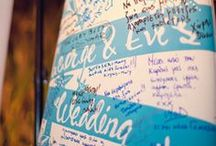Wedding Guest Books / Ideas out of the ordinary for your wedding guest book that will make your guests line up to sign!