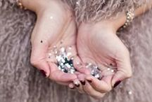 Sparkle + Shine / Crystal embellished Furs, sparkles + rhinestones