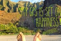 My GPS is set on happiness / Based on a quote from Heidi Siefkas' book, With New Eyes: The Power of Perspective, all pictures are of GPS shots sharing happiness and seeing the world with new eyes. #withneweyes #happiness #inspiration #adventure #travel #book