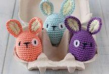 Easter - Pasen DIY / Allerlei ideeën voor pasen om zelf te maken (DIY), zoals eierwarmers, gehaakte paashaasjes, paastakken met restjes garen etc.