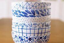 Delftsblauw DIY / Maak zelf Delftsblauw met markers en stiften voor porselein - Make your own Delftware with markers and porcelin