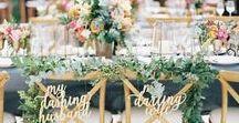 Wedding Table Decoration & Centerpieces / Wedding table decoration and flower centerpieces