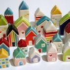 Mini domečky-Little Houses / domečky z keramiky-rozkošné