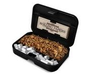 Smokebox® / Smokebox® is a pocket tobacco case for rolling your own cigarettes - it contains rolling papers, filters, and loose tobacco. Smokebox® is a registered trademark