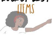 Bucket list items