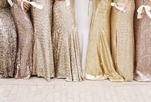 Bridesmaids Dresses / Whether your bridesmaids are perfectly matching, accessorized to the nines or each wearing a unique ensemble, there are so many new chic and trendy ideas to fashion your girls!