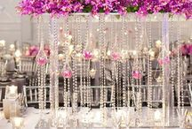 Wedding Centerpieces / Be inspired by the beautiful, unique and outright amazing wedding centerpieces that incorporate a combination of color, scale, theme, texture, light and whimsy to enhance the aesthetic of the tablescape!