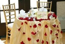 Sweetheart Tables / Rather than sitting with the entire bridal party, the sweetheart table is set for two!