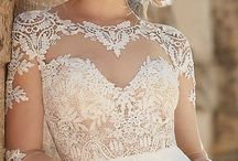 Wedding Gowns / All brides deserve a gorgeous gown! There are so many choices from shape to color, cut to fabric! Find the right dress for you with a little help from our inspiration board.