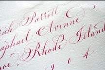 Calligraphy We LOVE / Calligraphy is the perfect way to emit a sense of classiness, sophistication and elegance! / by Madeline's Weddings & Events