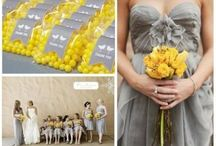 Yellow & Grey Wedding / Love this trendy color combination! The yellow is a great pop of color and so fun!