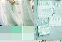 Mint Wedding Inspiration / This trendy color is perfect for vintage and rustic weddings. It goes great with a variety of colors!