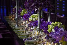Purple & Green Wedding Inspiration / Purple and green are an amazing color combination! Purple is such a rich, deep color while green is a great fun pop of color!