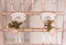 Bride & Groom Chairs / From cute signs to darling decor, there are plenty of ways to mark the bride and groom chairs!