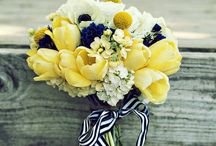 Yellow & Navy Wedding Inspiration / We love this killer combo! There are so many great ways to pair yellow and navy!