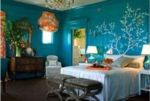 Peacock Bedroom / I'm thinking about using peacock colors to design my bedroom / by Amanda Schmidt