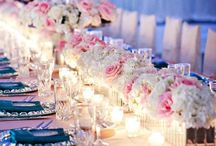 Long Table Centerpieces / How can you decorate a long family-style table at your wedding? Flowers, crystals, vases and more!