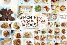 Sugar-free / Recipe ideas for a month without refined sugar, fake sugar, and white flour. (Find out more at http://emilycgardner.com/no-sugar-september)