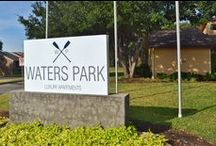 Waters Park- Bedford, TX / Located at 1401 Shady Ln, Bedford, TX 76021. Phone #: (817) 267-5001. Experience beautiful pet friendly apartments conveniently located in the heart of Bedford, just moments from Northeast Mall, great shopping and just footsteps from a 60 acre park.  Live in luxury as you soak in our sparkling pool, relax in our park-like landscaping or enjoy your upgraded interior with faux granite countertops, new flooring and fixtures throughout.  @WatersParkApt www.facebook.com/WatersParkApartments/