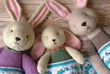 Hand knitted toys