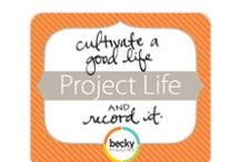 Project Life - Scrapbooking / #ProjectLife is a way of scrapbooking that is simple. Simple = Done! Project Life can be either digital or paper and was created by Becky Higgens.