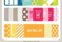 Project Life - Journal Cards - Scrapbooking / Project Life uses journal cards to simplify the process. There are so many free journaling cards available online. I'll include both paid and free ones here. #ProjectLife #DigiScrap