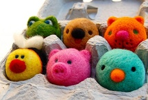 Needle Felting / Lots of lovely needle felting inspiration for you ... many made with supplies from www.bloomingfelt.co.uk