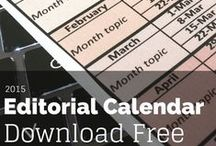 Editorial Calendar / Editorial calendar ideas, samples & how to.