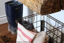 LAUNDRY/MUDROOM / Inspiration for styling a Mudroom space