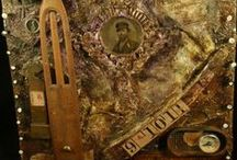 Assemblage Art by Jennifer Campbell / Assemblage pieces using found and vintage objects