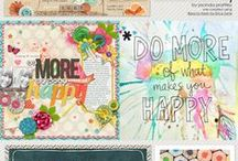 Scrapbooking Inspirations / Things that inspire scrapbook pages. #scrapbooking #inspiration #digiscrap
