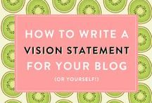 MIssion Statement Tips / Tips for helping you create a personal, blog or business mission statement.