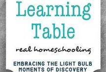 Learning Table / The best of mylearningtable.com -Real Homeschooling-  We homeschool in between music and art lessons, nature walks, park days, light saber battles, cooking, and learning to drive--embracing the light bulb moments of discovery and cherishing our spontaneous life.