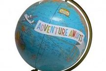 Earth / Crafting and decorating with globes and maps