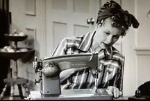 """Sewing / """"A good use for me is to let me go away with my sewing machine and come back with some really new stuff."""" ~Betsey Johnson"""