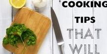 Food Prep Tips & Hacks / This collection contains a variety of helpful tips to help make common daily tasks easier!  #Kitchen #MealPrepTips