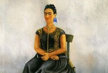 Art ~ Frida Kahlo / Painting by Mexican Painter, Frida Kahlo 1907-1954 / by Bev Murphy