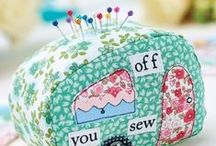 Pin Cushions / Needle Books / Lavender Cushions / Including sewing machine covers/ pattern weights/ really anything to help with sewing / by Sibbie