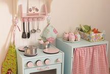 Diy Play Kitchens / Also includes dollhouses / leggo & train tables / tool benches. / by Sibbie