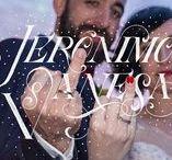 Detalles boda Murcia / Detalles del día de la boda: traje del novio, vestido de la novia, ramos, arroz, pétalos y lettering para los álbumes de boda.