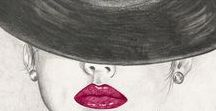 Rostros femeninos / Mujeres con sombrero