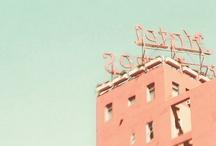 aqua + peach. / aqua, teal, blush, peachy pink